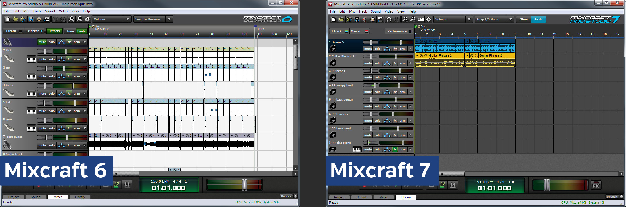 Upgrading from Mixcraft 6 to Mixcraft 7 - Acoustica Blog | Mixcraft